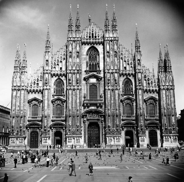 Facciata gotica del Duomo di Milano