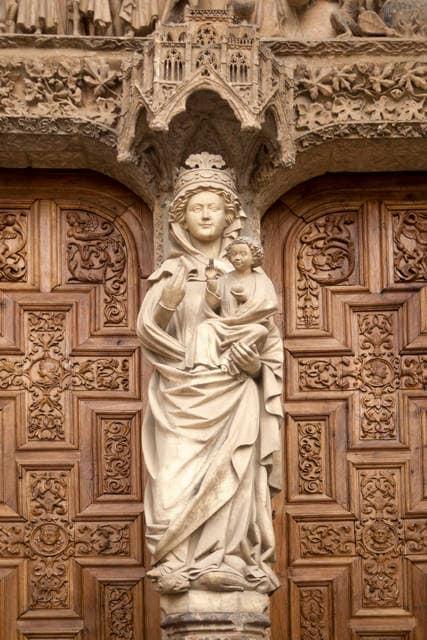 Scultura della Cattedrale di Leòn