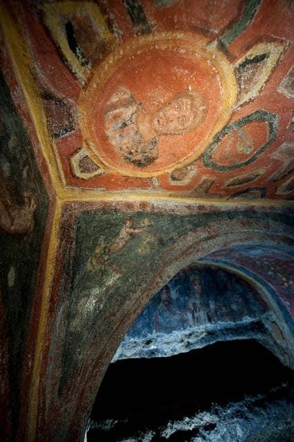 Ritratto di Sant'Andrea nelle catacombe romane di Santa Tecla