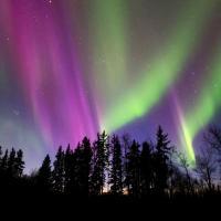 Aurora boreale in Canada