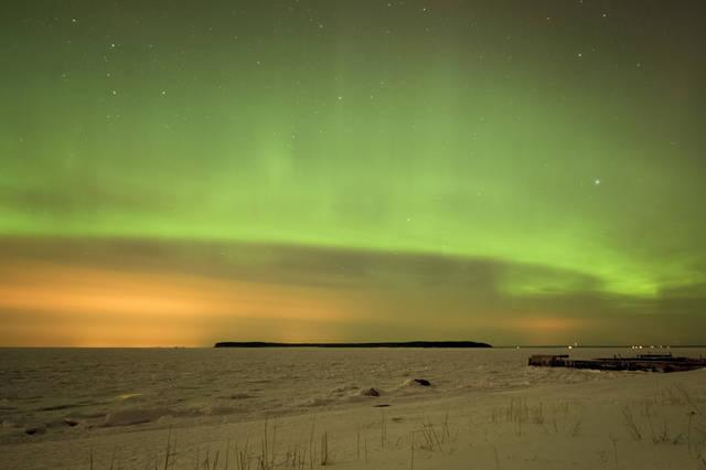 Aurora boreale in Estonia