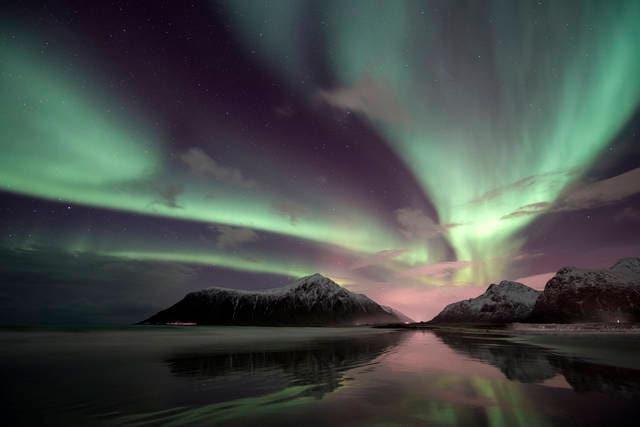 Aurora boreale nelle Isole Lofoten