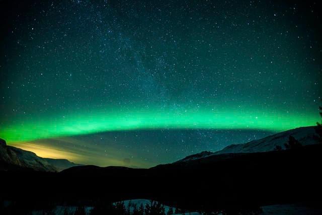 Aurora boreale in Svezia