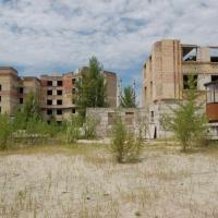 Città abbandonata vicino Chernobyl