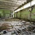 Palestra di una scuola, vicino Chernobyl
