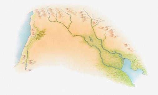 Mappa della Mesopotamia