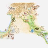 Mappa dell'impero degli Assiri
