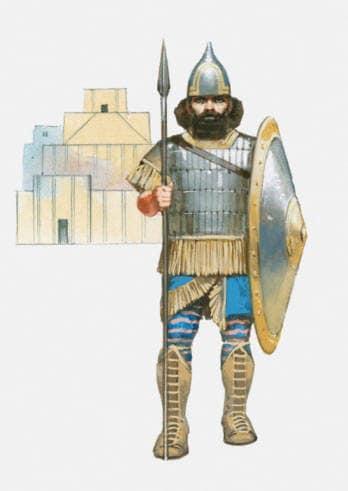 Soldato assiro in uniforme