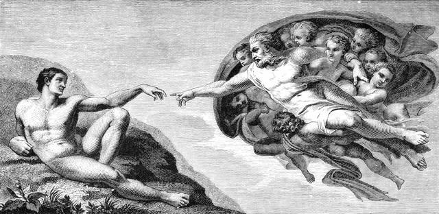 Affresco di Michelangelo: la Creazione di Adamo