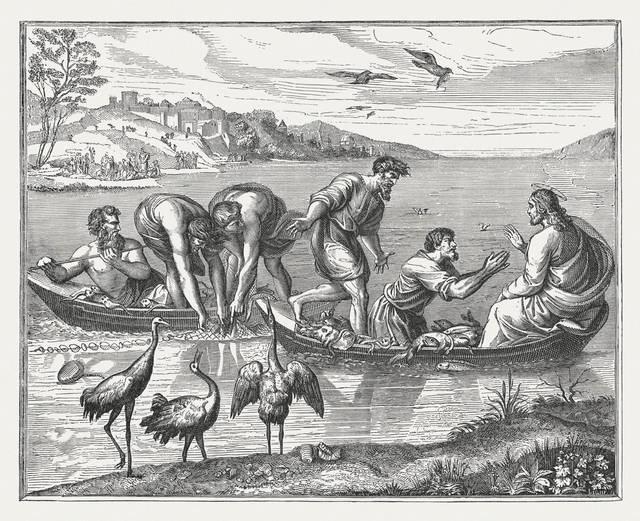 Arazzi della Cappella Sistina: La pesca miracolosa di Raffaello