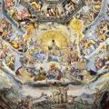 Giudizio Universale di Michelangelo sullo sfondo della Cappella Sistina