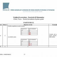 Risposte matematica test Invalsi terza media 2015 - 8