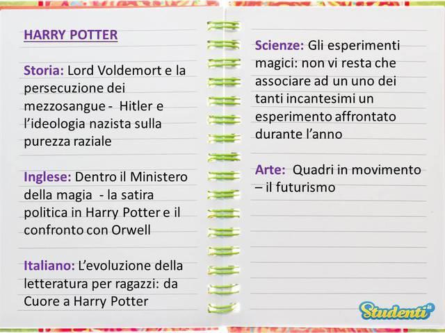 Tesina su Harry Potter