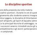 Le discipline sportive