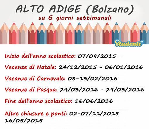 Alto Adige, su 6 giorni di lezione settimanali
