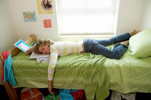 Studiare a letto