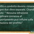 La condotta non può influire sul profitto