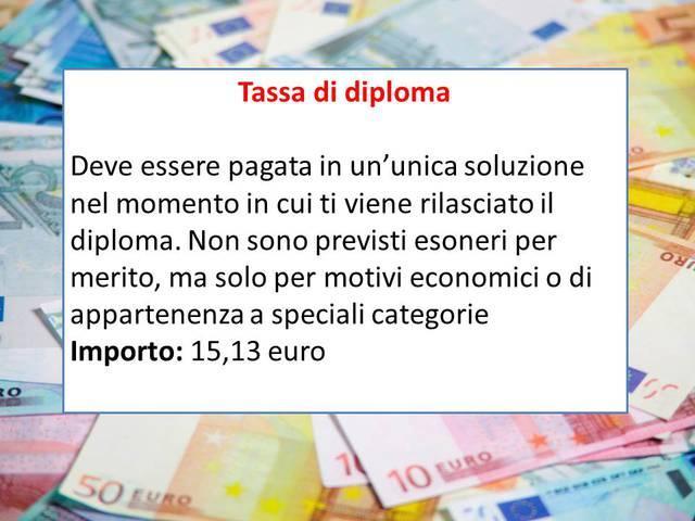 La tassa di diploma