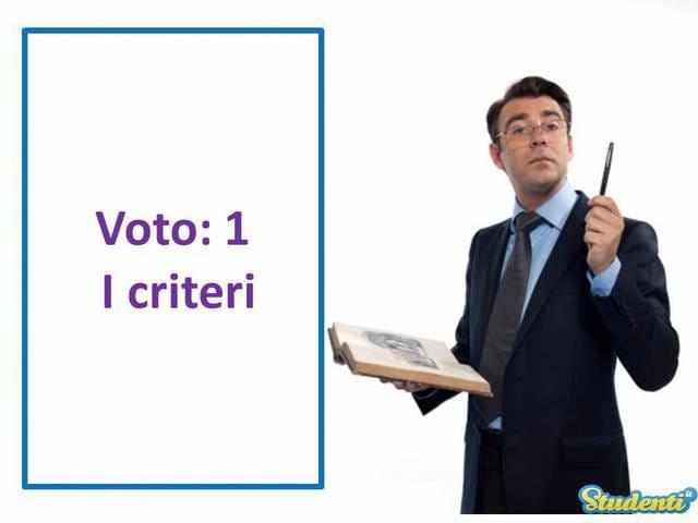 Voto: 1 – I criteri