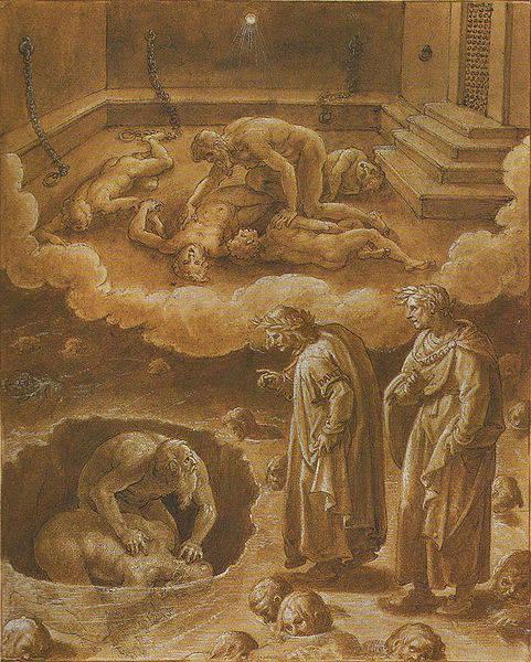 Canto XXXIII, IX Cerchio, traditori della patria , degli amici e degli ospiti