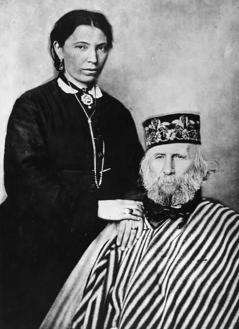 Giuseppe Garibaldi e sua moglie Francesca Armosina