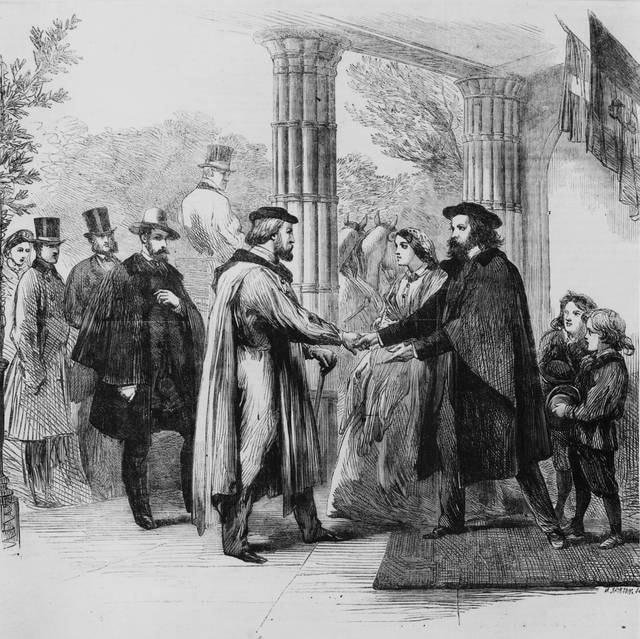 L'incontro tra Garibaldi e Alfred Tennyson