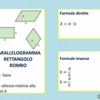 Parallelogramma, rettangolo, rombo