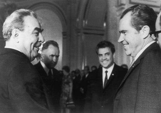 Le potenze mondiali: Richard Nixon e Leonid Brezhnev