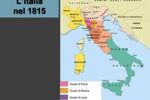 Cartina Dell Italia 1815.L Unita D Italia Mappa Concettuale Tesine E Appunti Sull Italia Unita Studenti It