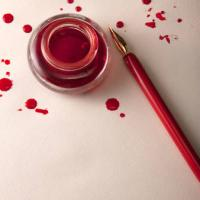 Divieto di usare inchiostro rosso