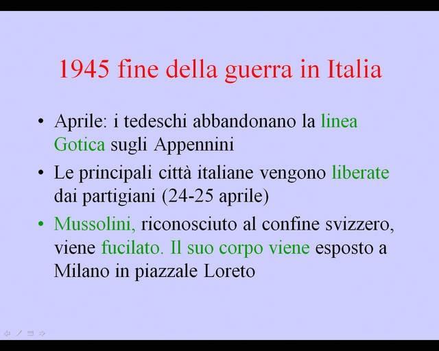 Fine della guerra in Italia