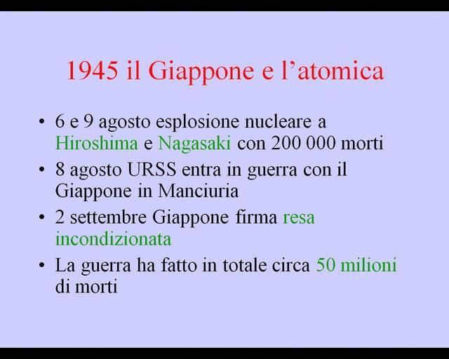 Il Giappone e l'atomica