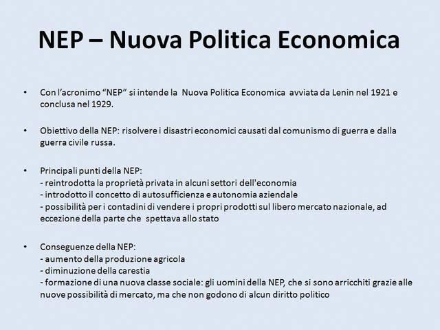 Nuova Politica Economica