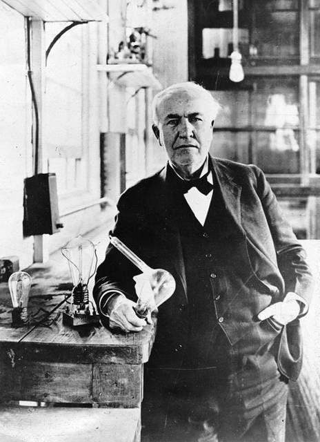 Thomas Edison e l'invenzione della lampadina