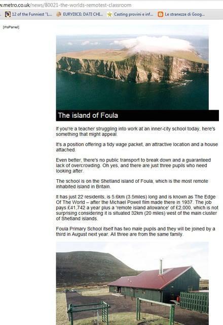 Isola di Foula delle Shetland, Gran Bretagna