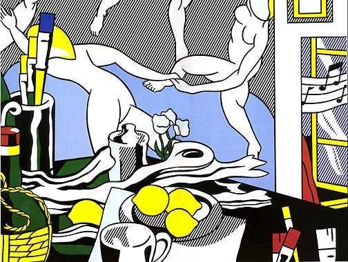 """Roy Lichtenstein, Artist's studio """"The dance"""", 1974, grafite e pastelli su carta, Museum of Modern Art, New York"""