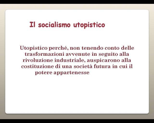 Socialismo utopistico