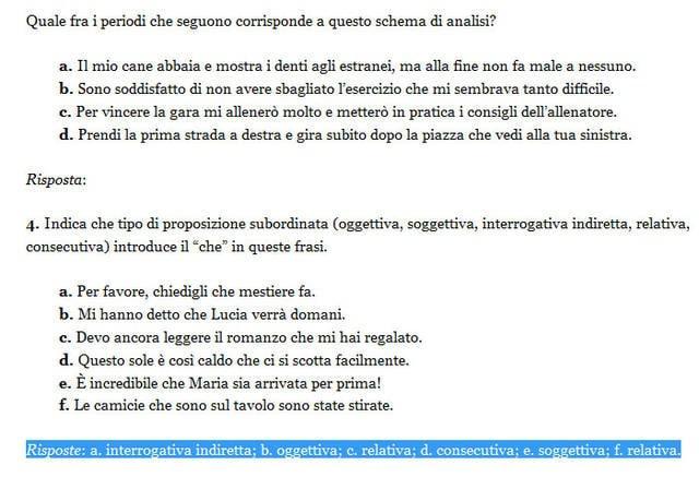 Invalsi 2013 la quarta domanda di italiano