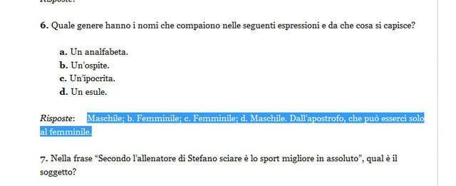 Invalsi 2013 la sesta domanda di italiano