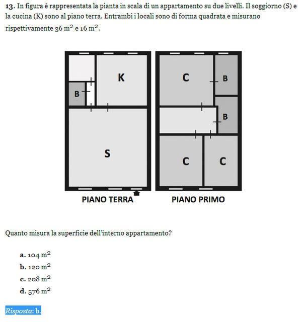 Soluzione esercizio matematica 13, Invalsi 2013