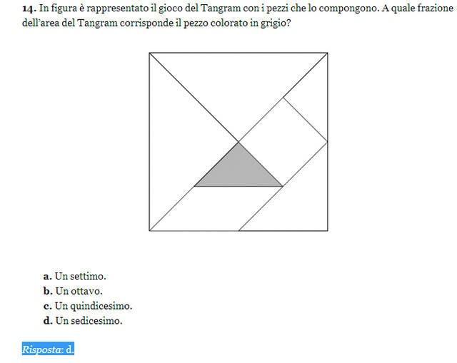 Soluzione esercizio matematica 14, Invalsi 2013