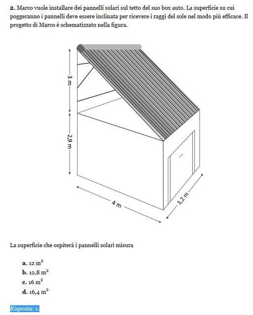 Soluzione esercizio matematica 2, Invalsi 2013