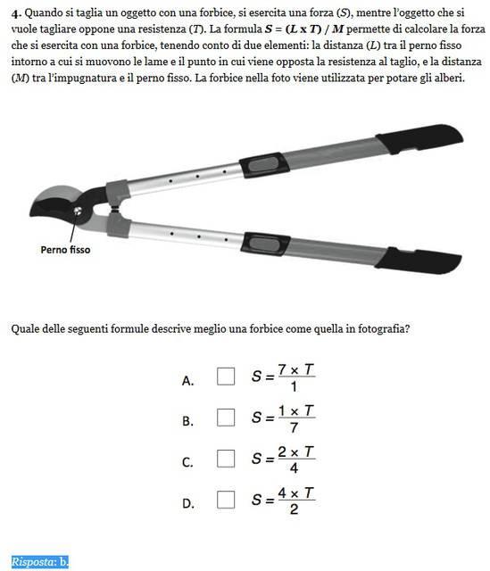 Soluzione esercizio matematica 4, Invalsi 2013