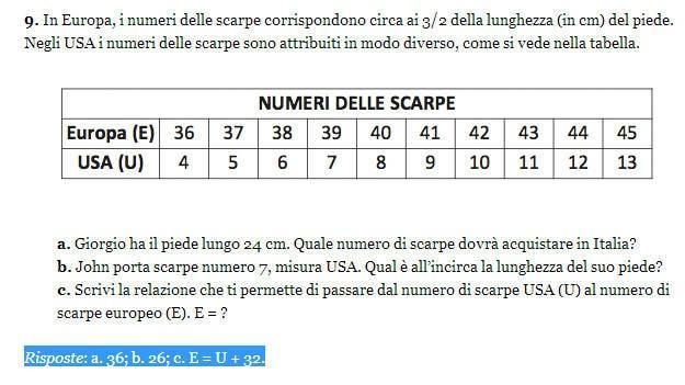 Soluzione esercizio matematica 9, Invalsi 2013