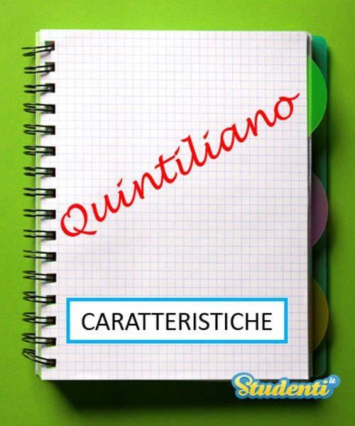 Versione di latino, le caratteristiche di Quintiliano