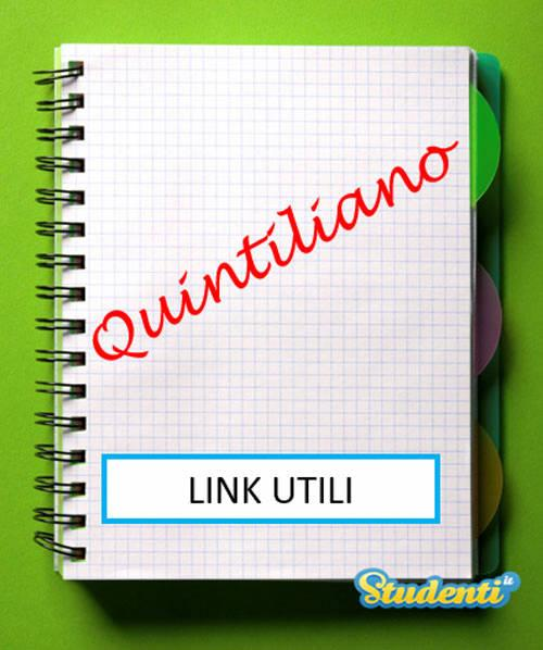 Traduzione Quintiliano: link utili