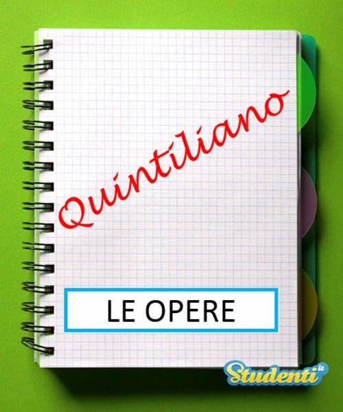 Versione di latino, le opere di Quintiliano