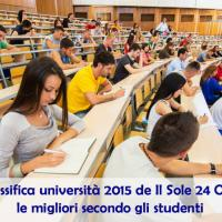 La classifica dei migliori atenei statali 2015 secondo gli studenti