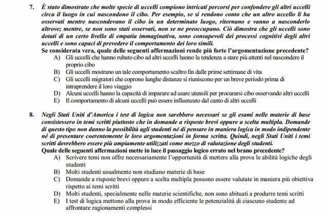 Soluzioni test Medicina e odontoiatria 2013-2014: domande 7 e 8