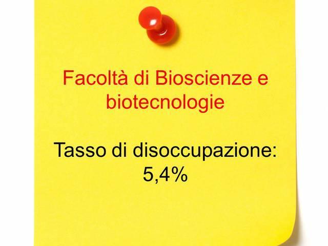 Diciottesimo posto: bioscienze e biotecnologie
